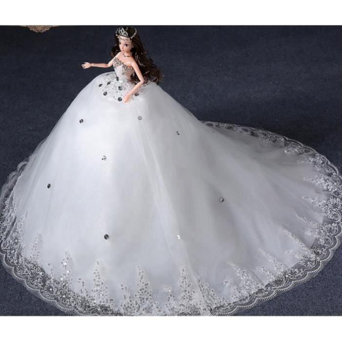 BARBIE - Poupée + robe de mariée fait main