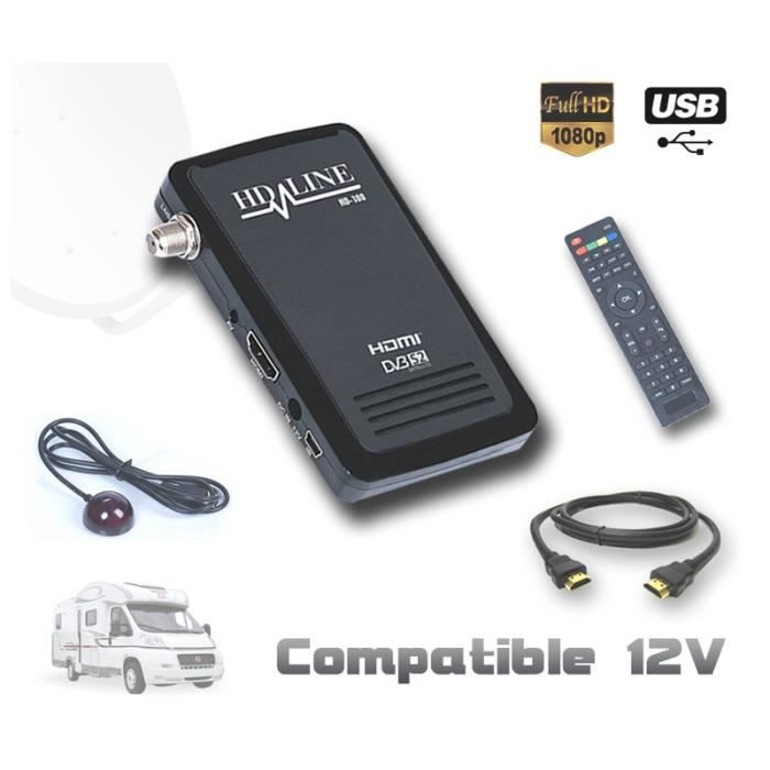 √ Decodeur Tnt Hd 12V Camping Car