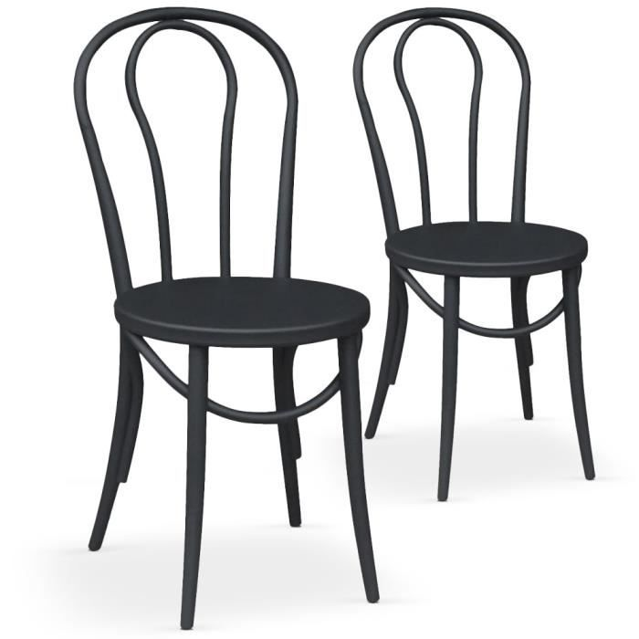 lot de chaises bistrot d occasion table de lit. Black Bedroom Furniture Sets. Home Design Ideas