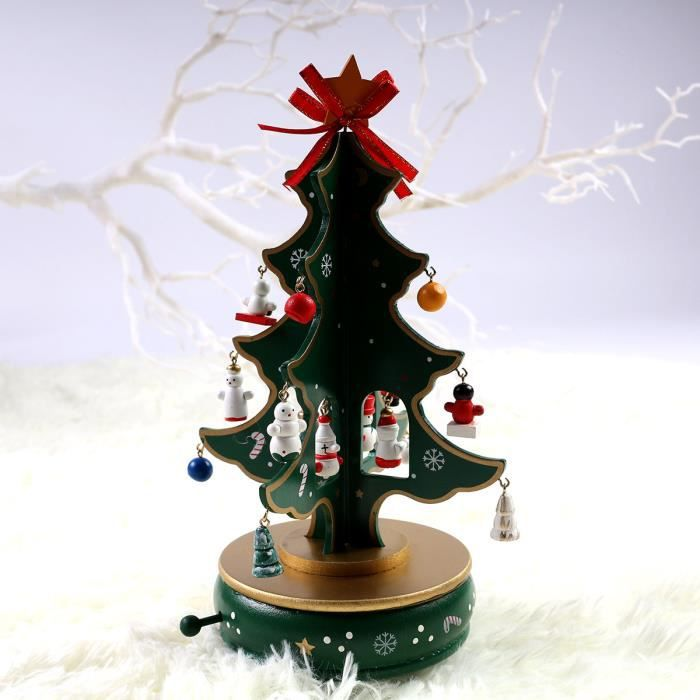 Sapin de no l musical d coration de no l ornement festif for Achat decoration de noel