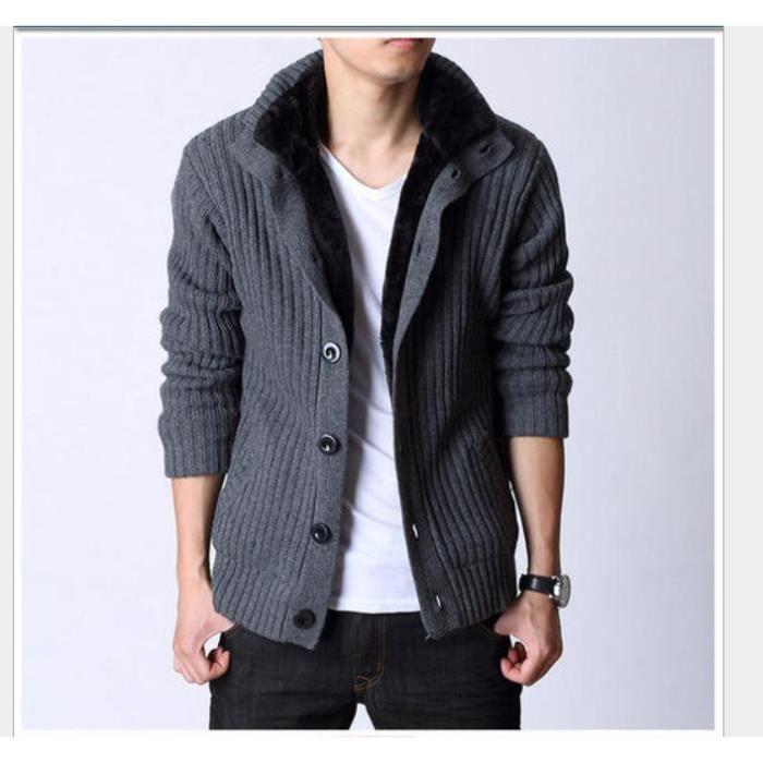 Marque Loisir Manteau Fluff Grande Nouveau Taille Rabattu Homme Coton Pull Homme Unie Col Single Breasted Plus Couleur De Mode q4Lj5A3R
