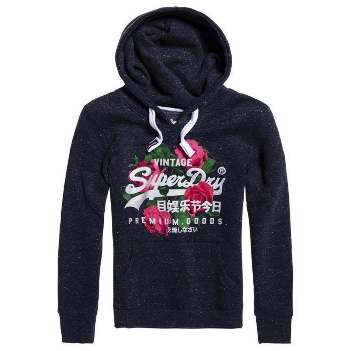 Superdry Premium Goods Tonal Infill Entry Hood Sweat-Shirt /À Capuche Femme