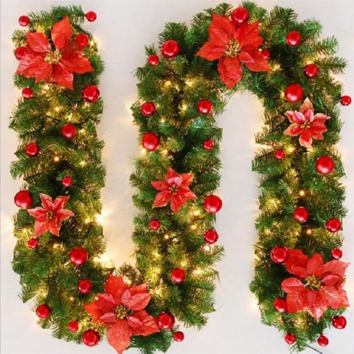 Red Scandi Tissu Noël Sac cadeau 25 cm x 25 cm Arbre//cheminée décoration