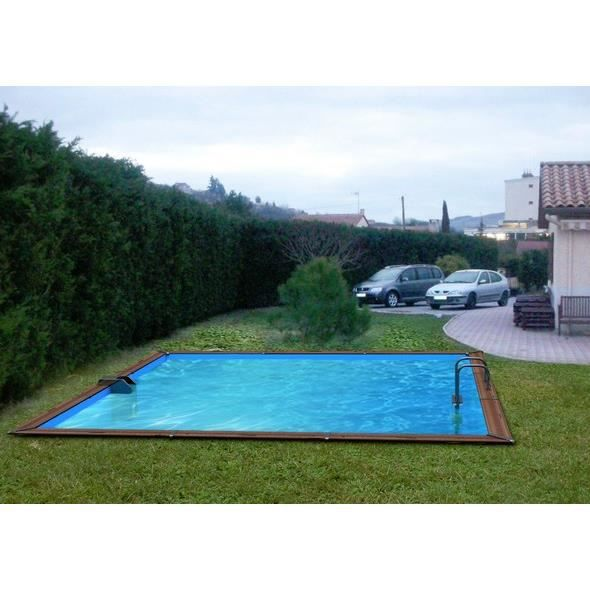 Piscine bois carr water clip 504 x 504 x 147 cm optimum for Piscine 5x5