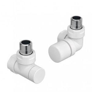 RADIATEUR DE CHAUFFAGE Kit G robinetterie BLANC manuelle thermostatisable