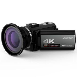 CAMÉSCOPE NUMÉRIQUE Andoer Caméra vidéo numérique Portable 4K 48MP WiF