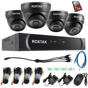 CAMÉRA DE SURVEILLANCE 720P CCTV 4CH 4 Caméra Set système de surveillance