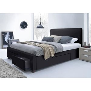 lit complet adulte 160x200 avec sommier et matelas achat vente lit complet adulte 160x200. Black Bedroom Furniture Sets. Home Design Ideas