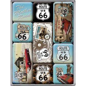 - 9x6.5 cm Q9210 - Magnet m/étal r/étro Route 66 Les Tr/ésors De Lily Highway 66 - I Love Riding The 66