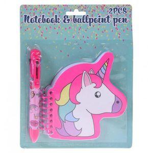 Smilestar Ensemble de 10/stylos /à bille 1/trousse et 1/carnet /à motifs licorne id/éal en cadeau d/'anniversaire pour fille violet