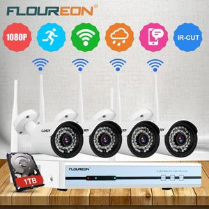 CAMÉRA DE SURVEILLANCE Kit de Caméra de Surveillance Floureon 1 x DVR 4CH