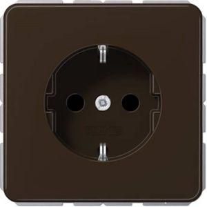 PRISE Prise 2P+T Jung CD1520BR 1 voie Insert marron 1 pc