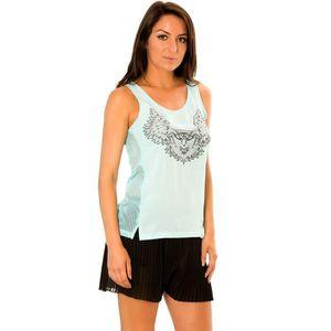 BUSTIER Miss Wear Line - Débardeur résille turquoise avec