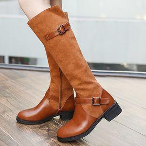Karen Millen Noir Au-dessus du genou haute en cuir et daim stretch Bottes Chaussures 3 To 6