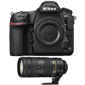 PACK APPAREIL RÉFLEX Nikon D850 Nu + AF-S Nikkor 70-200mm f/2.8E FL ED