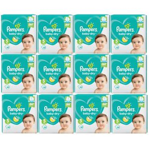 COUCHE Pampers Baby Dry Taille 5 Junior 11-16kg 360 Couch
