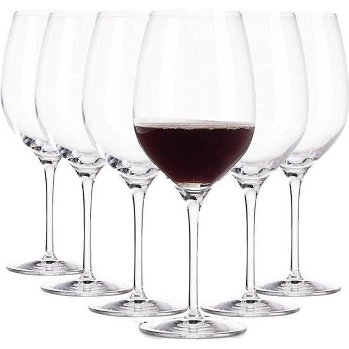 Domaine verres à vin Rouge - 370 ml - Ensemble de 6 verres