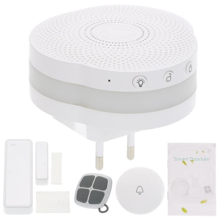 sonnette Système de sécurité sans fil Bluetooth 433MHz intelligent Sonnette d'alarme Système de soutien Android - IOS Phone APP