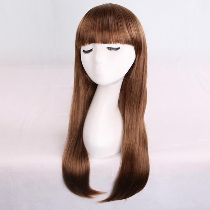 La nouvelle arrivée incroyable longue ligne droite noire perruque vous permet d'attirer 100% de cheveux humains XHL80815211C_769
