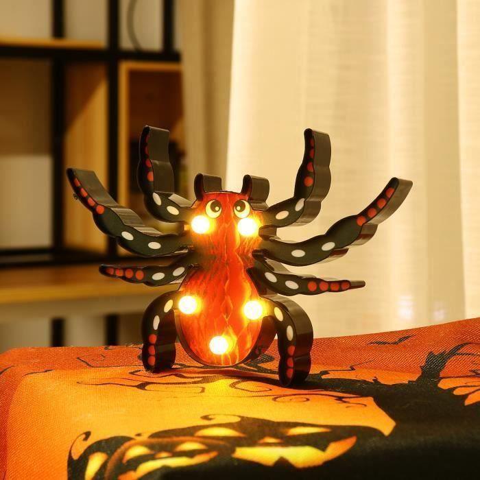 Guirlande Lumineuse Décorative Halloween Intérieur Lampe Araignée B