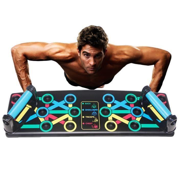Support de musculation Push up bars Poignée de Pompe pour Chest Press Musculation Fitness Gym Système 14 en 1