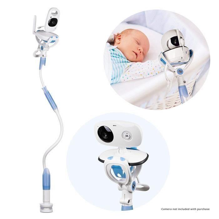 Bébé moniteur titulaire,bébé moniteur étagère ou le support de moniteur de bébé compatible avec la plupart des moniteurs Bleu
