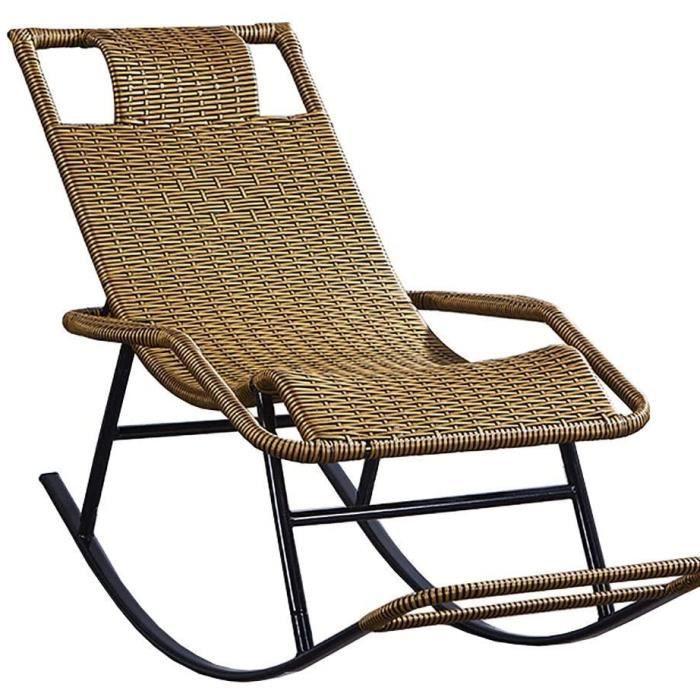 Transat jardin WGFGXQ Rocking Chair, Jardin Terrasse ext&eacuterieure Chaises Longues Chaises inclinables Chaises Rocking Sun L405