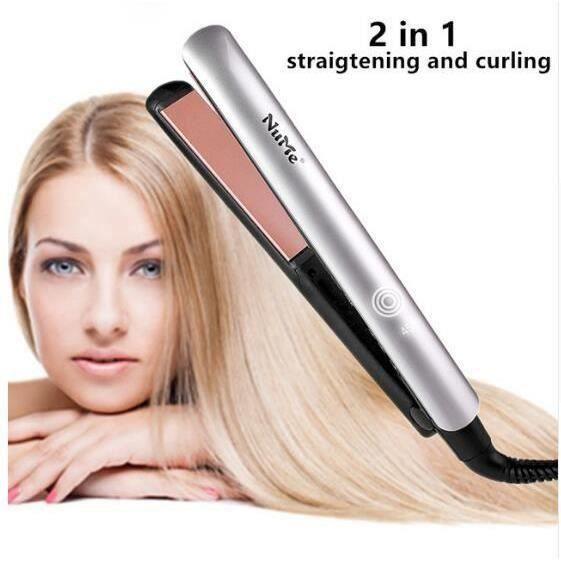 NUME Fer À Lisser Plat Fer Kératine Thérapie Défrisant Pour cheveux Plaque De Céramique fer À Lisser et Cheveux Bigoudi LIE2053