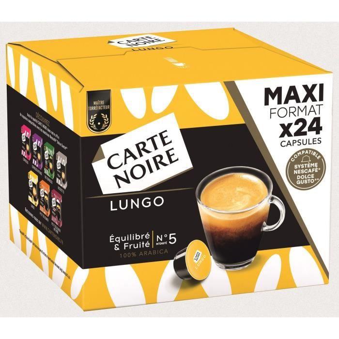 CARTE NOIRE Café capsules Lungo N°5 Compatible DOLCE GUSTO - Boite de 24 capsules - 192G