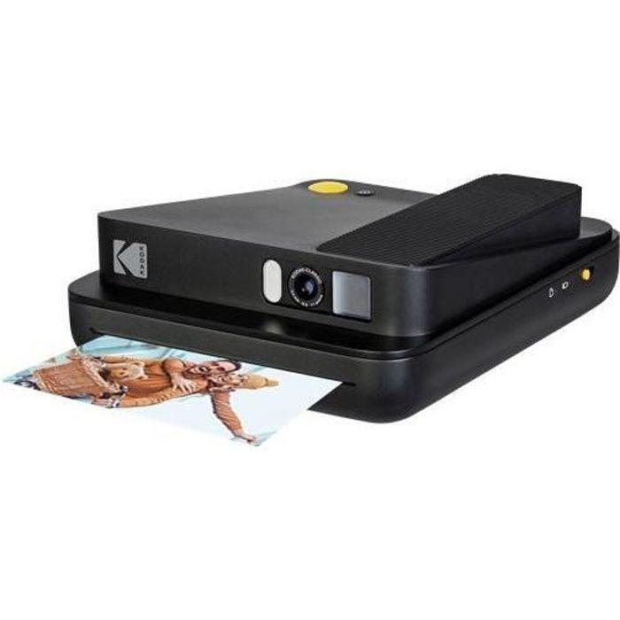 KODAK SMILE CLASSIC - Appareil 2-en-1 Photo Instantané & Imprimante Bluetooth - Noir