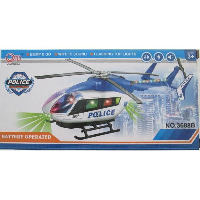 Hélicoptère de police electrique musical et lumineux