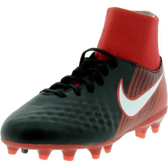 Nike - Nike JR Magista Onda II Df Fg Chaussures de football Petit Garçon Noir Rouge