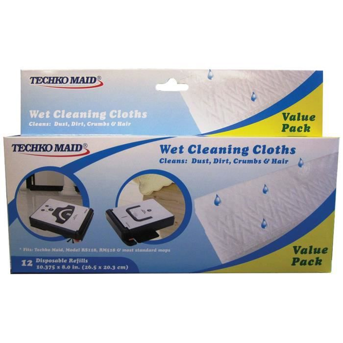 Vtc RM012 Wet Sweeping Cloths, 12-Ct HHIVS Taille-M