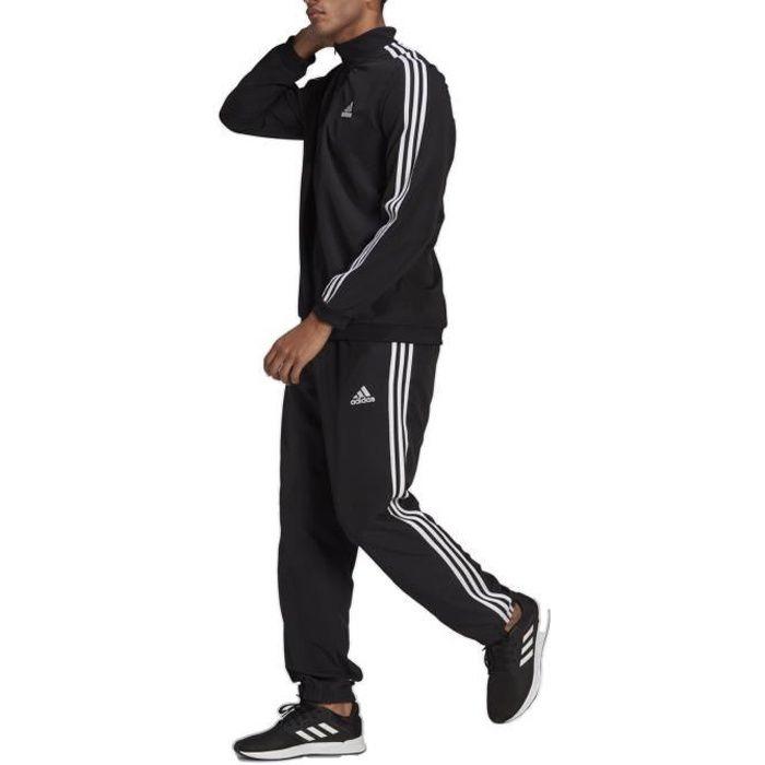 Adidas Survêtement pour Homme Aeroready Essentials Regular-Fit 3-Stripes Noir