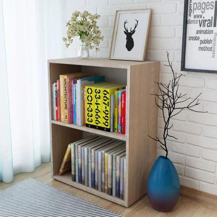 Bibliothèque Aggloméré 60 x 31 x 78 cm Chêne Étagère de livres Meuble escalier Étagère de rangement