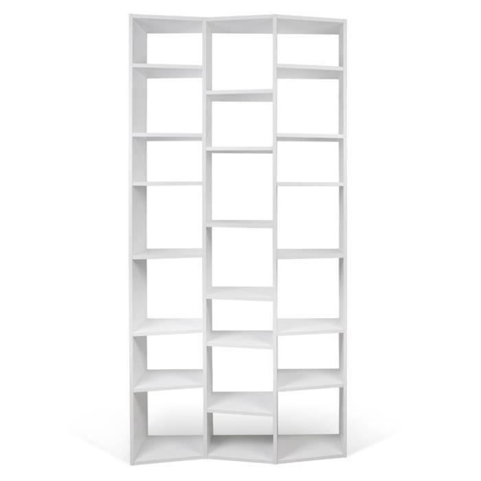 Temahome - étagère Bibliothèque -valsa- 21 Casiers Pm Blanc Mat - Paris Prix