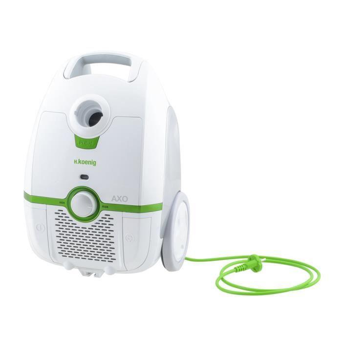 Aspirateur puissant à faible consommation énergétique avec Sac Triple A -Classe énergétique A Prévention contre acariens