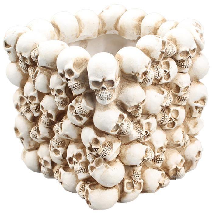 1 pcs Durable Petit Simple Ornements Creative Carré Stylo Titulaire Drôle Conteneur Crâne pour la Maison JARDINIERE - BAC A FLEUR