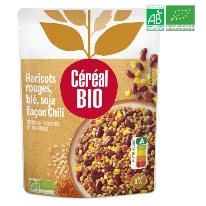 CEREAL BIO Haricots rouges cuisinés au blé et soja façon Chili Bio - 220 g