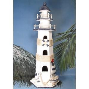 D coration marine grand phare en bois mod le a achat for Decoration marine bois