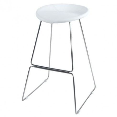 tabouret de bar design retro blanc achat vente. Black Bedroom Furniture Sets. Home Design Ideas