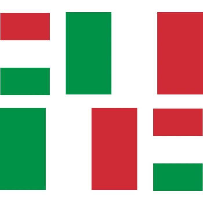 Lot de 2 autocollants pour pare-chocs en vinyle Motif drapeau italien italien 100 mm