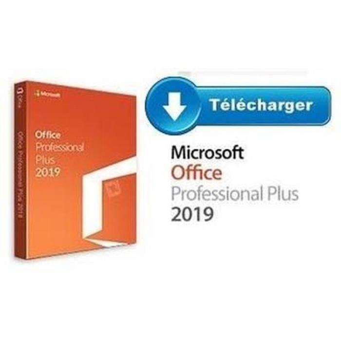 LIVRE INTERNET Office 2019 Professionnel Pro plus PC - Version à