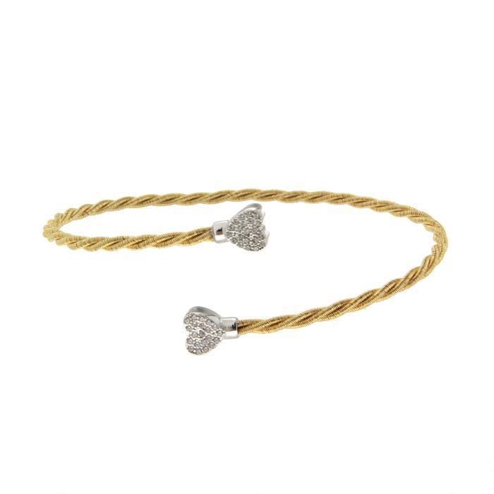 bracelet argent femme 925/1000 coeur
