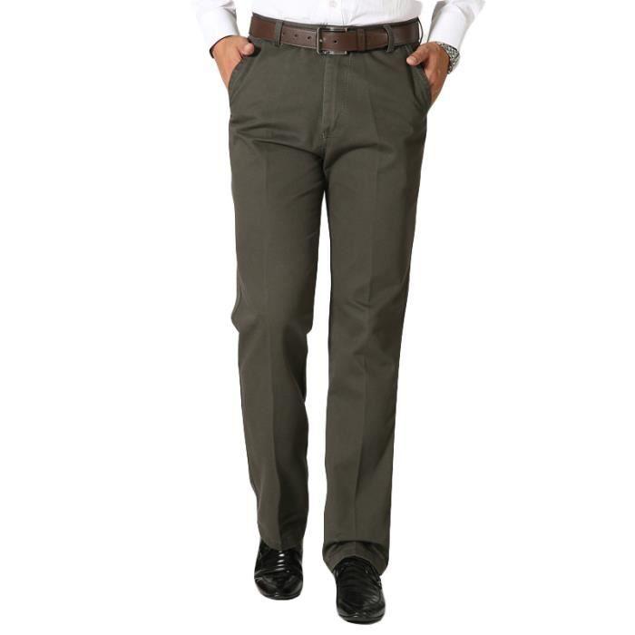 Pantalon Homme classique 36 Marron Marron