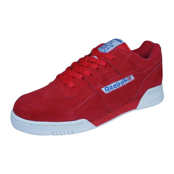 4ef567e256b Reebok Classic Workout Plus Vintage Baskets - Chaussures Homme Rouge ...