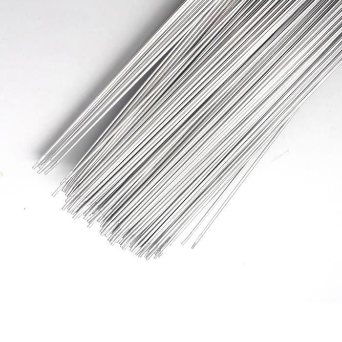 Henreal Baguettes de Soudure en Aluminium faciles /à Basse temp/érature 5 10 20 50Pcs 1.6mm 2mm Aucune Poudre /à souder