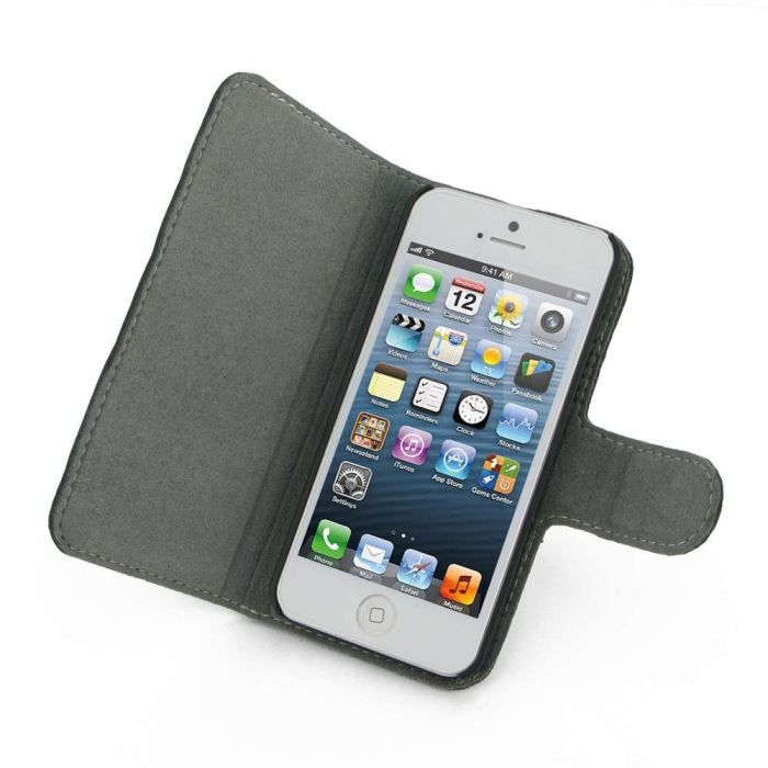 Etui housse iphone 5 pdair cuir format livre achat for Housse iphone 5