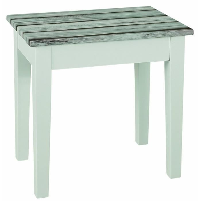 Table d 39 appoint en mdf coloris blanc maritimo p achat vente table d - Table and co vente en ligne ...