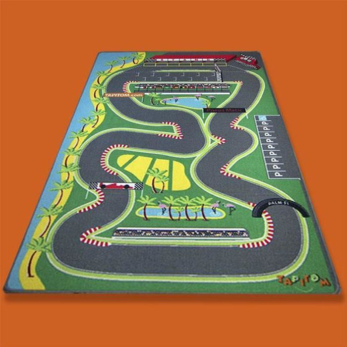 tapis jeu enfant 130 x 200 cm circuit voiture de course. Black Bedroom Furniture Sets. Home Design Ideas